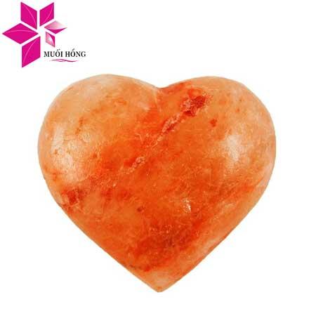 Đá muối massage hình trái tim