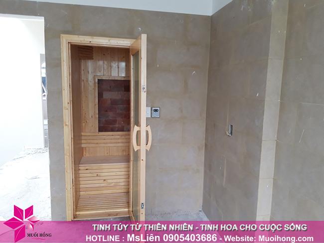 Hoàn thiện công trình phòng xông hơi đá muối gia đình tại Đà Nẵng_2